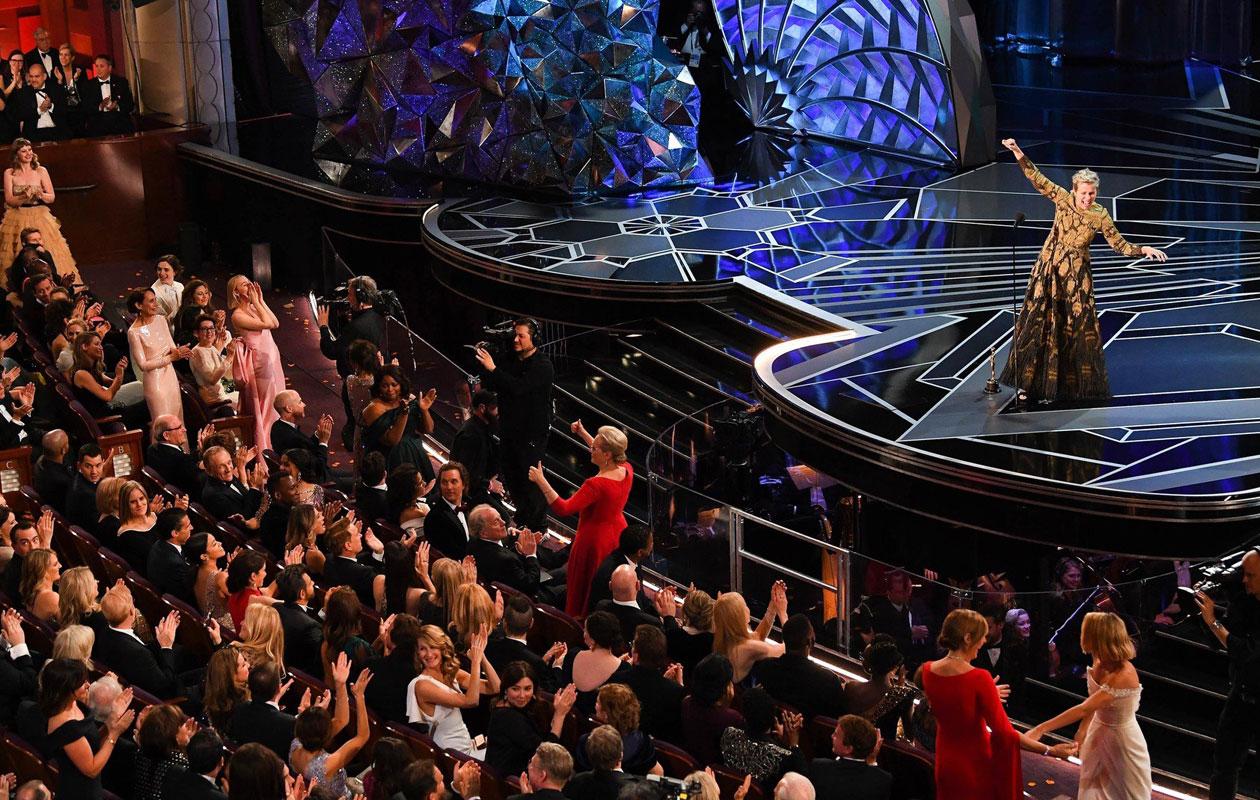 Näyttelijä Frances McDormandin puhe teki vaikutuksen Osar-gaalassa 2018.