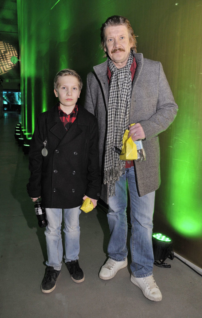 Santeri Kinnunen ja poika Elmeri vuonna 2014.