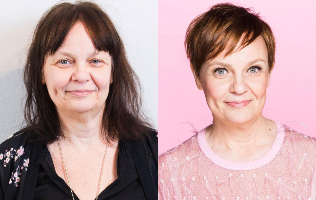 Annette Ekblad oli valmis kokeilemaan uudenlaista juhlatyyliä, vaikka ajatteli, että meikki vanhentaa häntä.