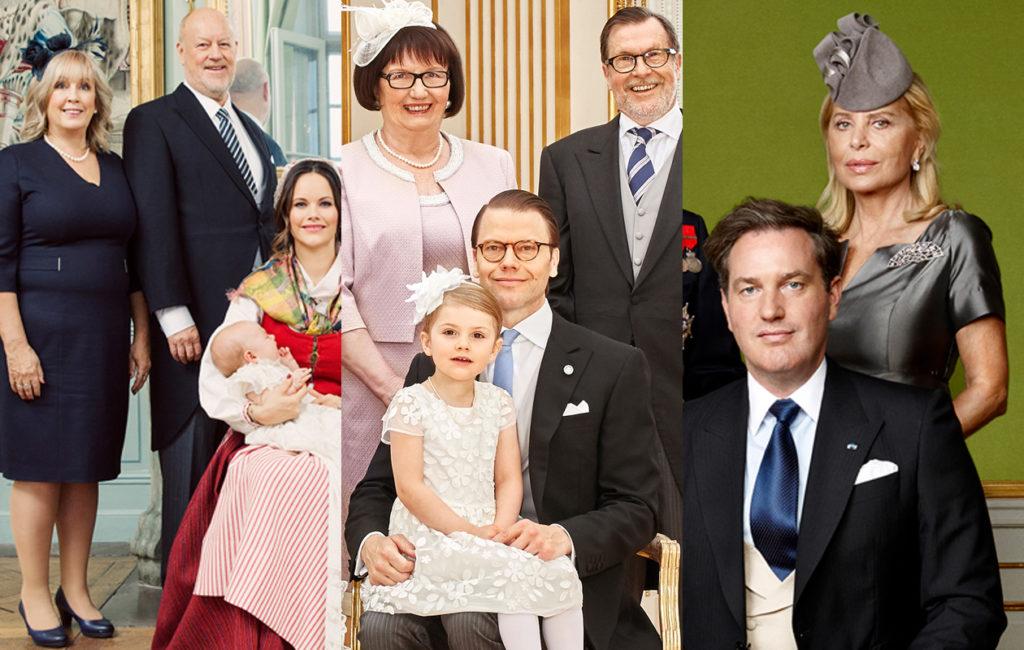 Prinsessa Sofian, prinssi Danielin ja Christopher O'Neillin vanhemmat osallistuvat kuninkaallisiin perhetapahtumiin, kuten lastenlastensa ristiäisiin.