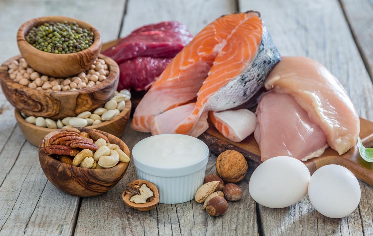 Ruoka-aineita, joissa on paljon proteiinia