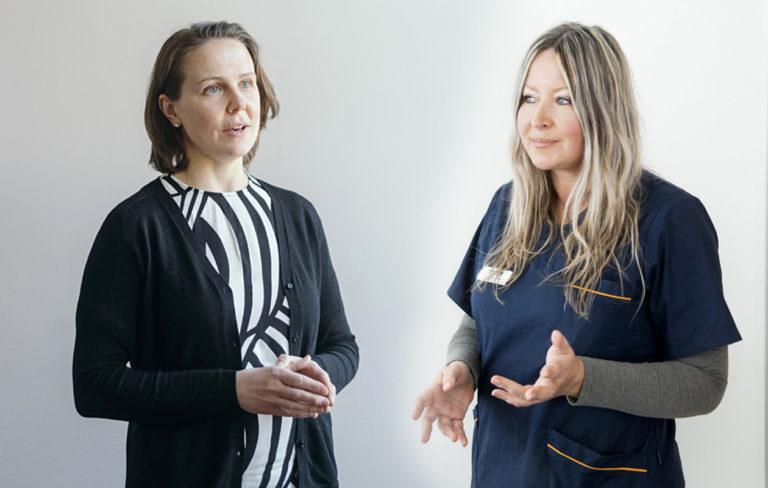 Päivi Lahti ja Tanja Hakkarainen