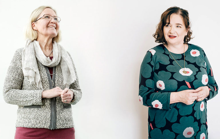 Kirsi Vähäkangas ja Marja Pirttivaara