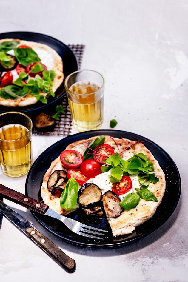 valkoinen grillipizza