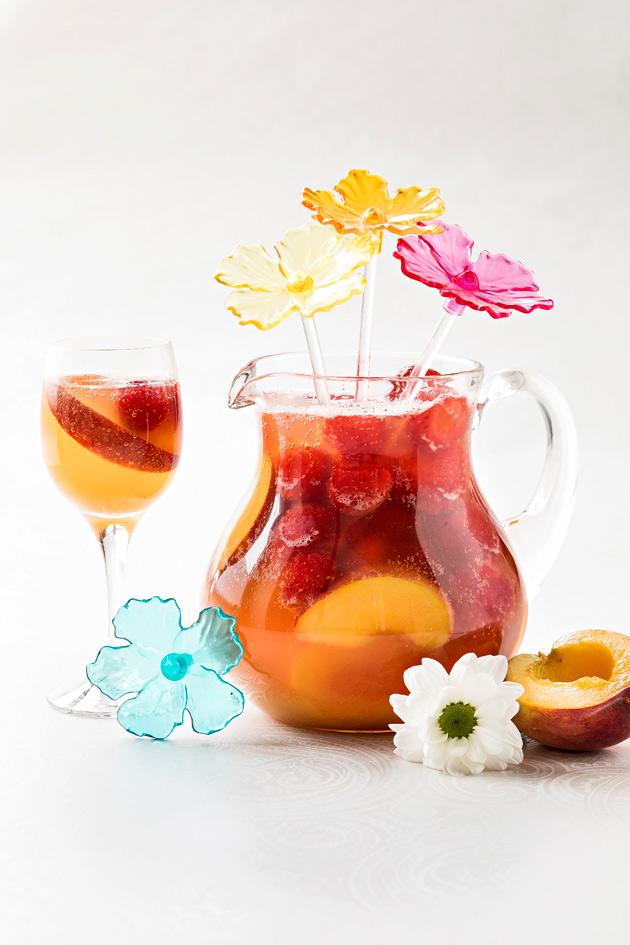 persikka-mansikkasangria
