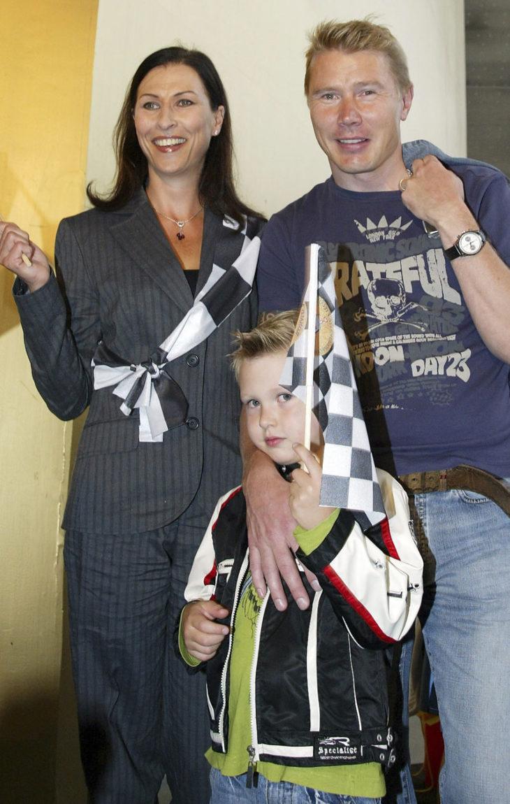 Erja, Mika ja Hugo Häkkinen vuonna 2006.
