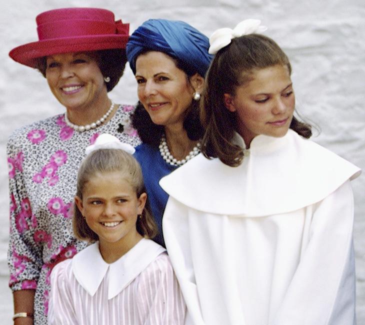 Kruununprinsessa Victoria konfirmaatiotilaisuudessaan 1992.