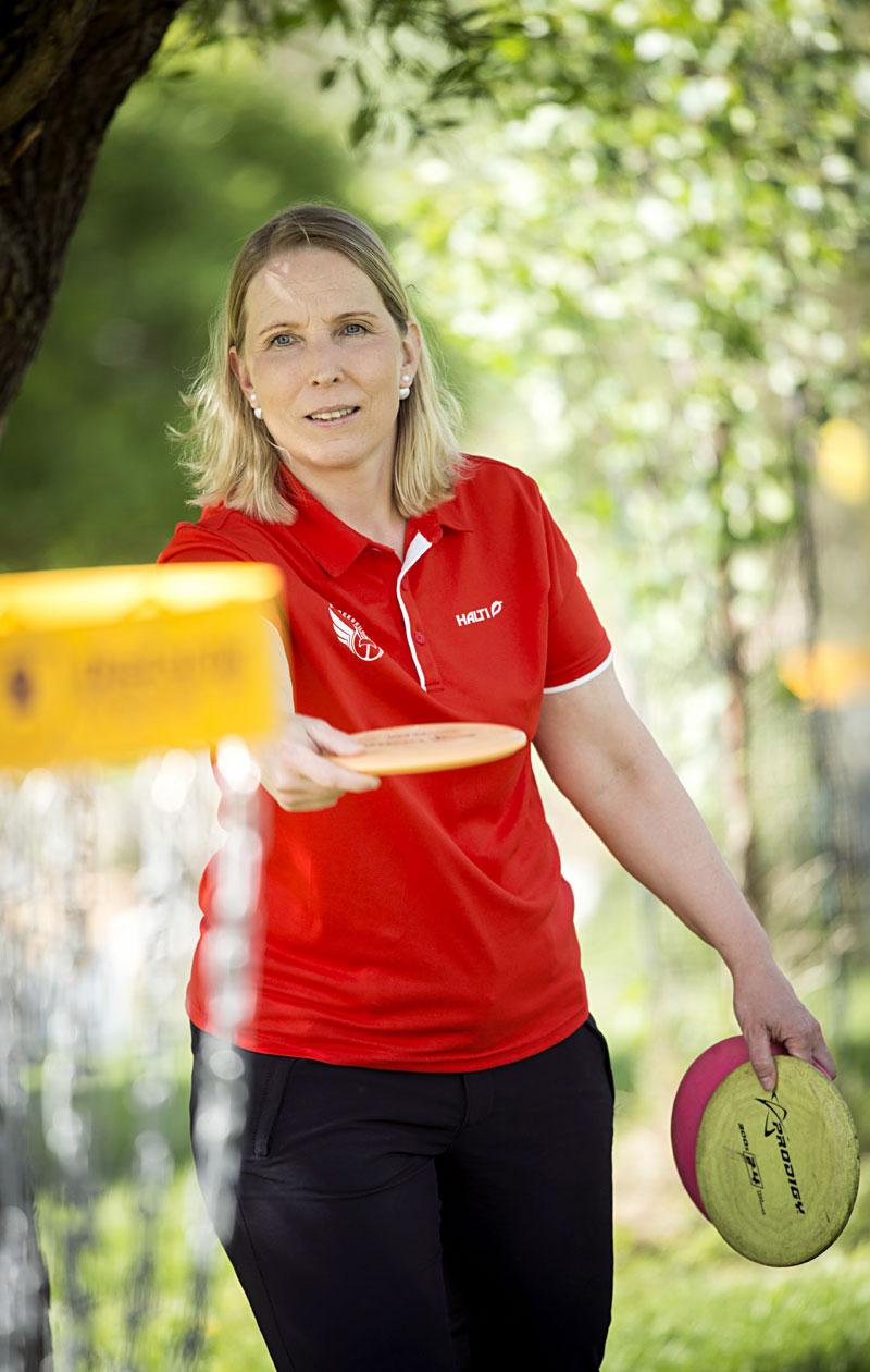 Nina Kiminki frisbeegolf