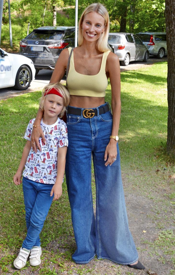 Vilma Bergenheim ja 6- vuotias poika Tyson.