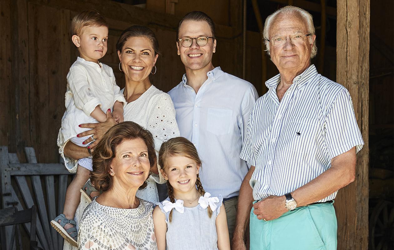 Ruotsin kuninkaallisten uudet kesäkuvat
