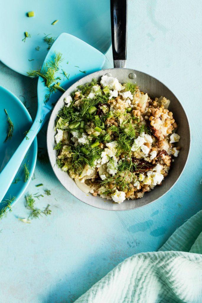 Fodmap-resepti: Kvinoa-fenkolirisotto fodmap