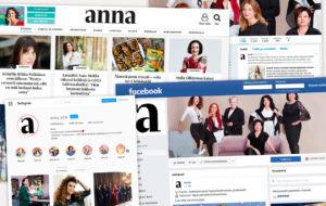 Anna.fi, Anna-lehden Facebook, Twitter ja Instagram