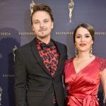 Roope Salminen ja Sara Sieppi edustivat yhdessä Venla-gaalassa tammikuussa 2018.