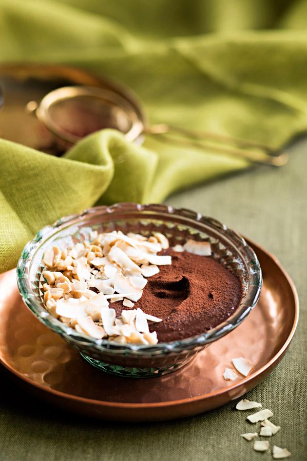 maapähkinä-kookos-suklaavaahto