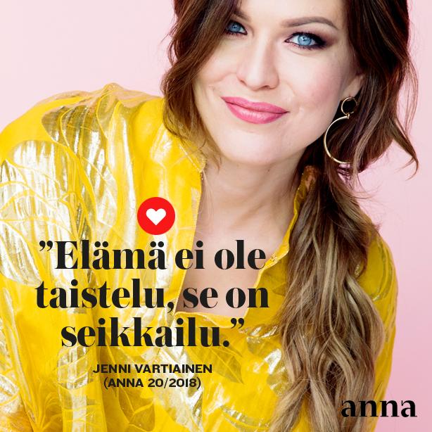 Jenni Vartiainen Anna-lehdessä