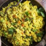 Intialaisessa keittiössä riisikin maustetaan huolellisesti. Kasvis-kookosriisin voi nauttia joko lisukkeena tai kokonaisena ateriana lisukkeineen.
