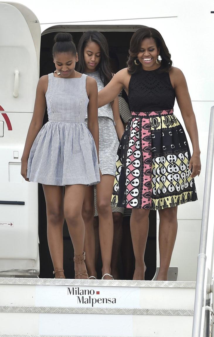 Michelle Obama Malia Obama Sasha Obama