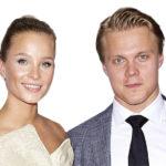 Emmi Kainulainen ja Mikael Granlund edustivat NHL Awards -gaalassa vuonna 2017.