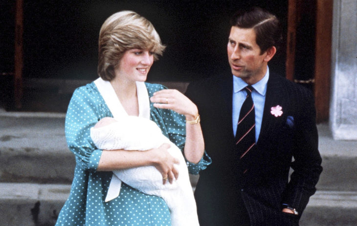 - proud parents Charles and Diana stand outside St MaryÕs hospital, Paddington, with the new-born Prince William in June 1982. Camera Press/Jim Bennett