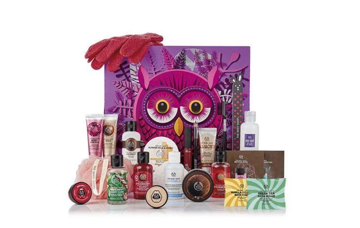 The Body Shop -joulukalenteri