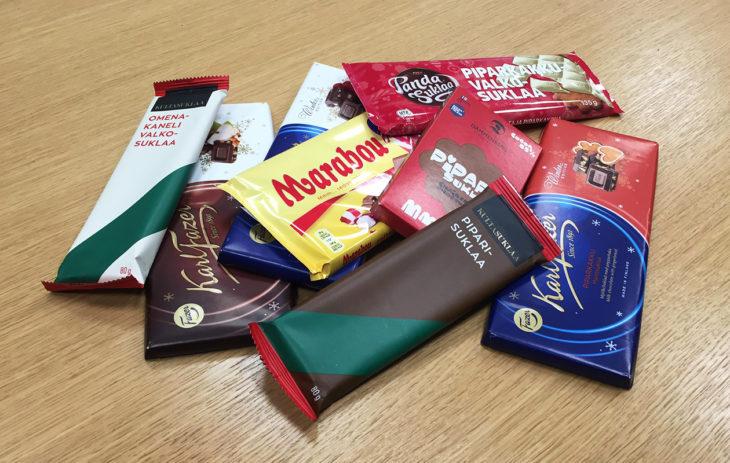 Jouluiset suklaalevyt makutestissä