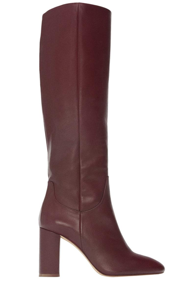 Zara viininpunainen saapas
