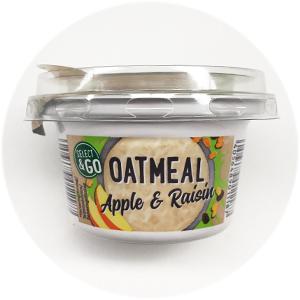 Milbona Select & Go Oatmeal Apple & Raisin: 3/5