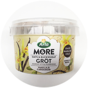 Arla & More kaurapuuro vanilja-kardemumma: 2+/5