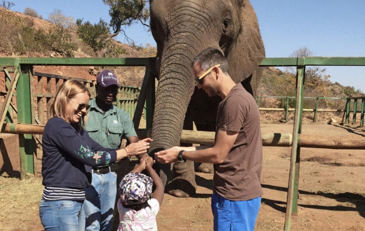 Ohlssonin perhe Etelä-Afrikassa