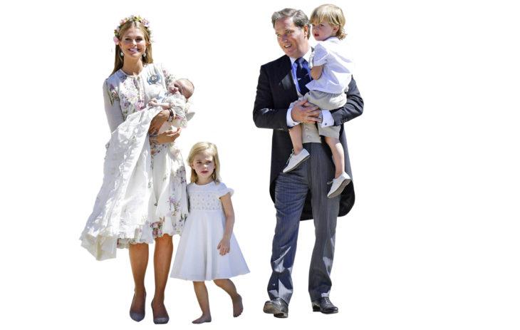 Ruotsin prinsessa Madeleine asuu miehensä Chris O'Nealin sekä lapsiensa prinsessa Leonoren, 5, prinssi Nicolasin, 3, ja prinsessa Adriennen, 1, kanssa Yhdysvalloissa.