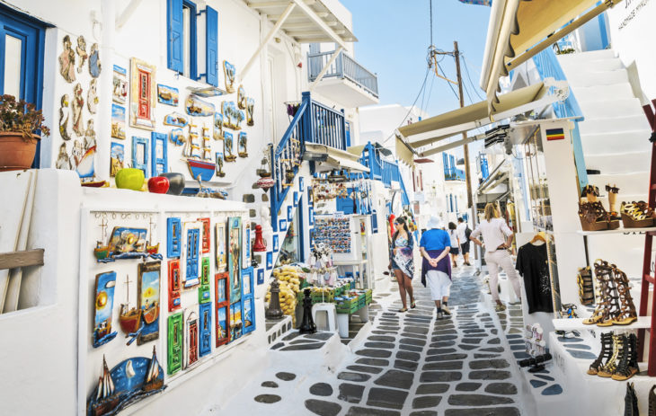 Kreikan parhaat kohteet. Labyrinttimaiseen Mýkonoksen kaupunkiin eksyy helposti.