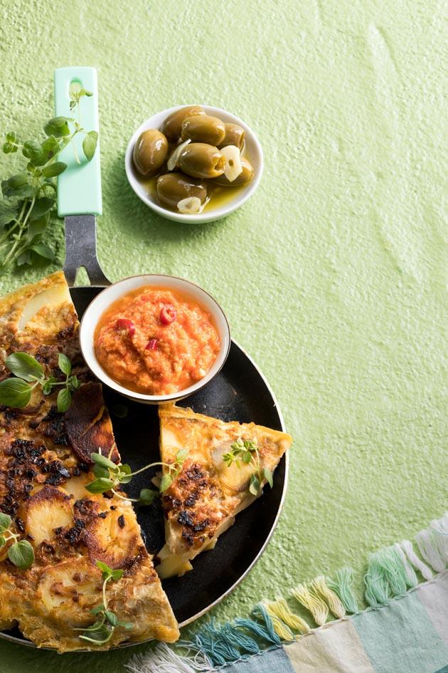 perunamunakas ja romescokastike