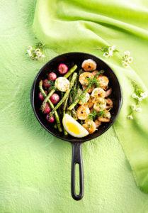 parsaa ja jättikatkarapuja grilissä