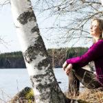 Pauliina Kainulaisen kotijärvi Höytiäinen oli toukokuun alussa juuri vapautunut jääpeitteestä.