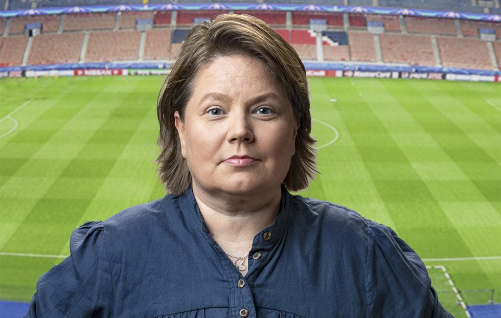 Marianne Miettisen voi nähdä analysoimassa jalkapallon naisten MM-kisoja Ylen kisastudiossa.