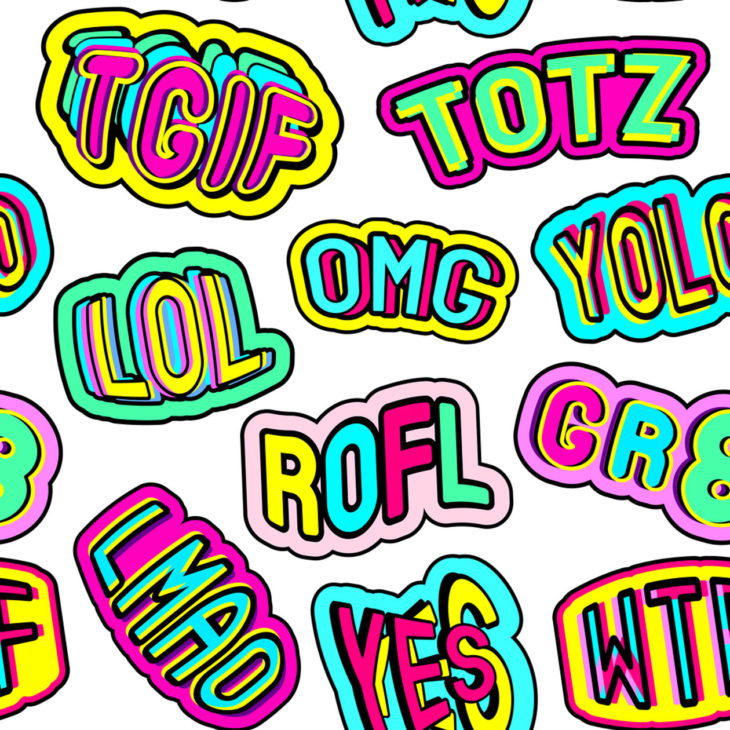 ROLF = Rolling On the Floor Laughing. TOTZ = Totally.