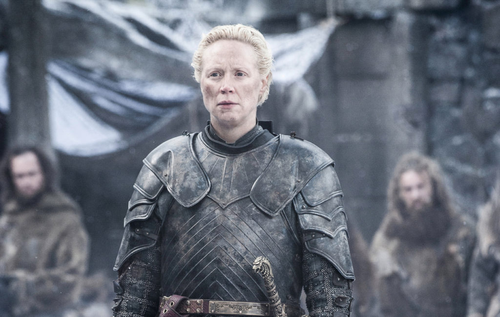 Tarthin Brienne (Gwendoline Christie) on Game of Thrones -sarjan ritari.