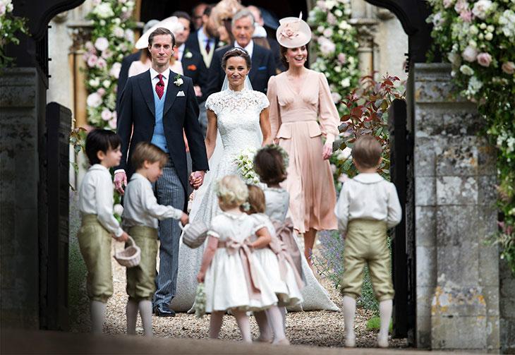 Pippan ja rahoitusalalla työskentelevän James Matthewsin häitä juhlittiin toukokuussa vuonna 2017. Pippan hääpuvun oli suunnitellut Giles Deacon. Katen lapset prinssi Georgeja prinsessa Charlotte olivat sulhaspoikien ja morsiusneitojen joukossa.