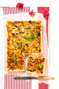 juusto-sipulipiirakka