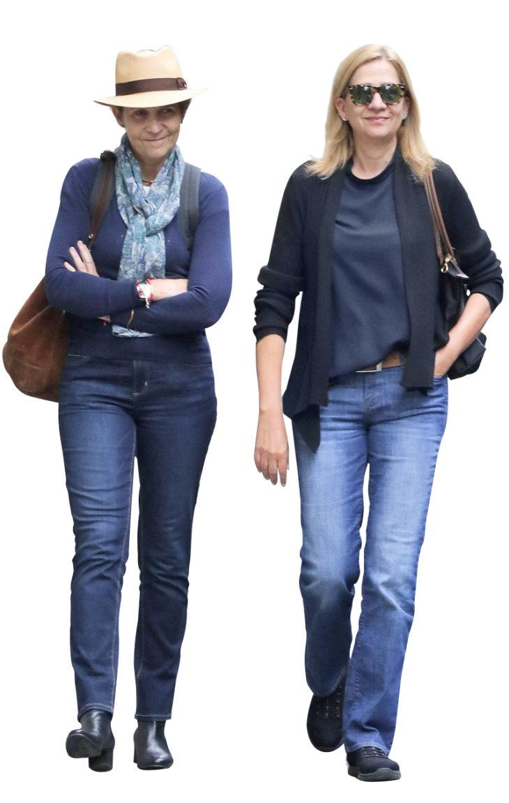 Prinsessat Elena (vas.) ja Cristina pysyttelevät nykyään hovielämästä syrjässä.