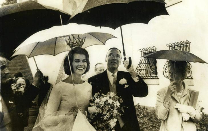 Ruotsin prinsessat: Heinäkuussa 1964 prinsessa Margaretha ja John Ambler vihittiin Borgholmissa Öölannissa.