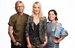 Pian alkavaa Big Brother Suomi -ohjelmaa juontavat Kimmo Vehviläinen, Elina Kottonen ja Alma Hätönen.