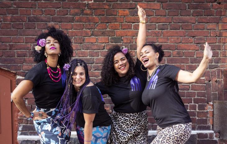 Good Hair Day -aktivistit Michaela Moua, Saida Mäki-Penttilä, Paloma Sandberg ja Vanessa Daniel ovat voimanaisia tapahtuman takana.