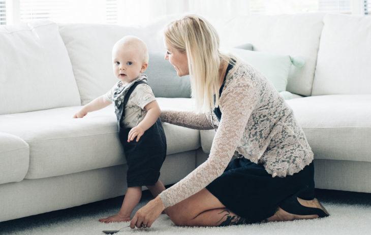 Runsas vuosi sitten Taru ja Mikko Meritien uusperhe täydentyi Toivo-pojalla, josta tuli perheen yhdeksäs lapsi.