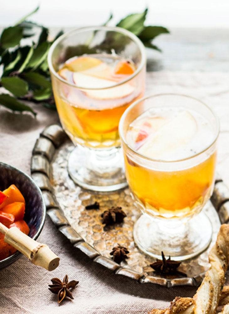 Kuumat juomat voidaan nauttia siiderin muodossa.