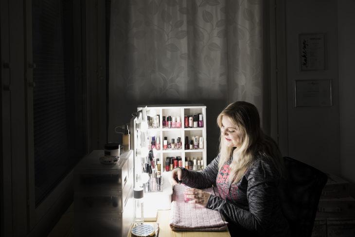 akrylaattiallergia, rakennekynnet, Maria Purmonen