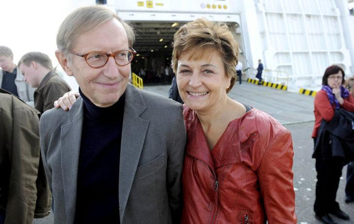 Anneli Jäätteenmäki ja Jorma Melleri keskustan suurrristeilyllä Riikan satamassa syyskuussa 2010.
