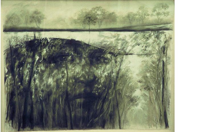 Danellen maalaus pojastaan Shannanista. Shannan, Reflections of a misty mourn on vuodelta 2001.