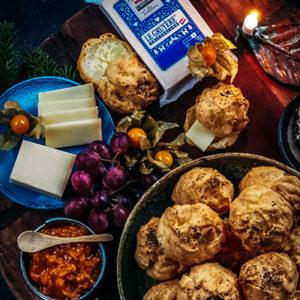 Gougères – juustotuulihatut