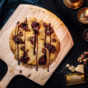 Punaviinipäärynäpizza